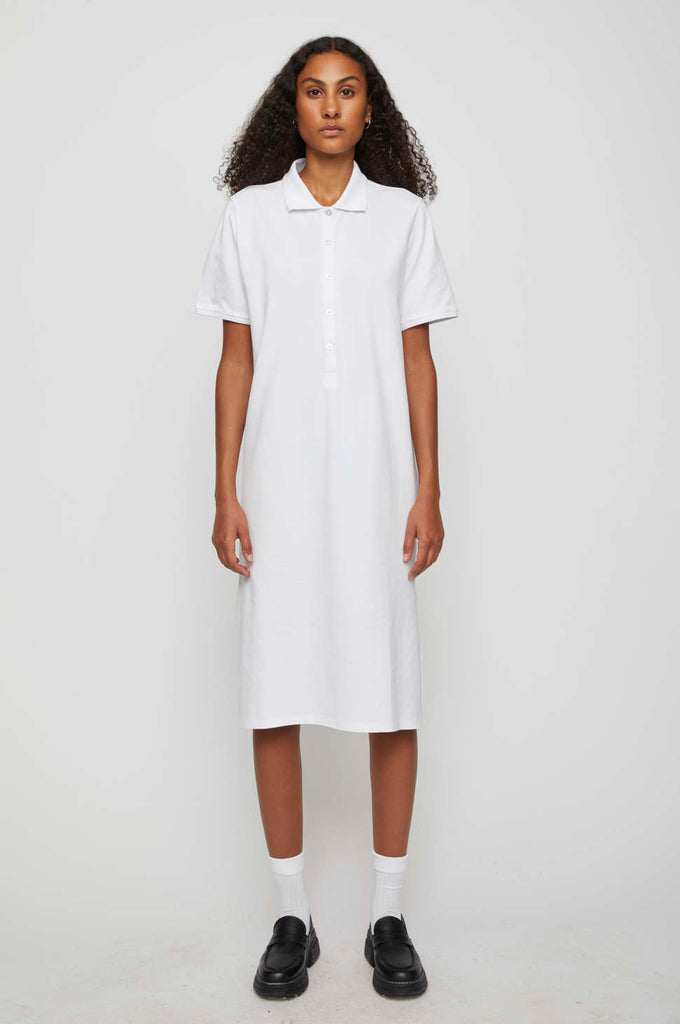 Santo Polo Dress in White