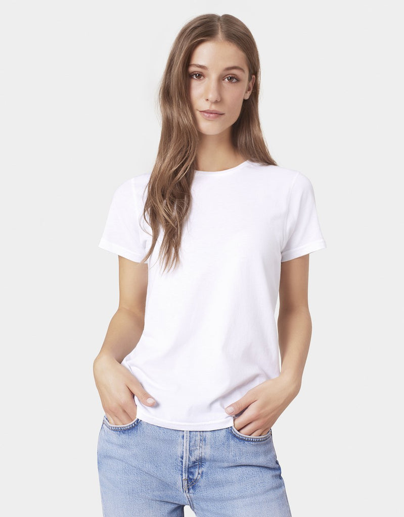 Women Light Organic Tee in Optical White