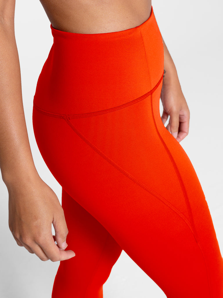 High Rise Classic Compressive Leggings in Daybreak Orange
