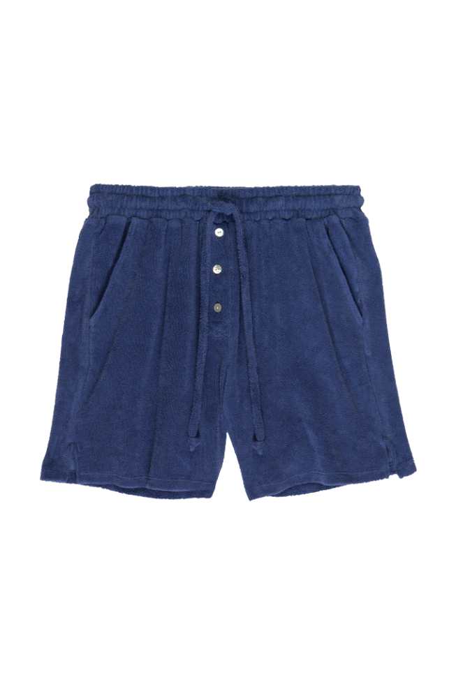 Terry Henley Sweat Shorts in Indigo