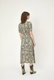 Sephina Wrap Dress in Zebra Print