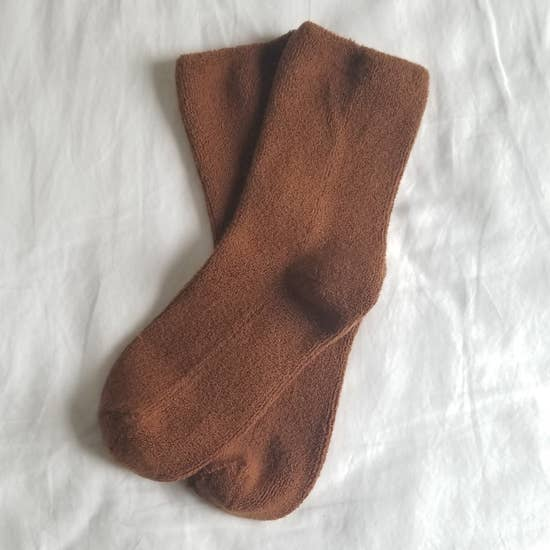 Cloud Socks in Sepia