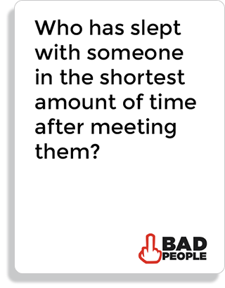 Who has slept with someone in the shortest amount of time after meeting them?