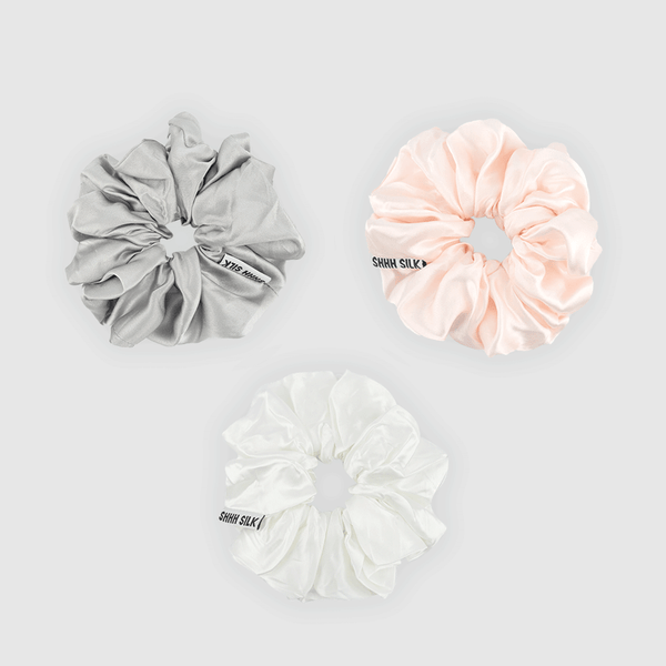 3 Pack Large Mixed Silk Scrunchies