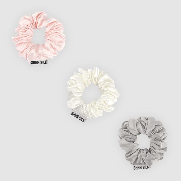 3 Pack Medium Mixed Silk Scrunchies
