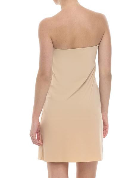 Strapless Slip: Microfibre seamless layering dress slip