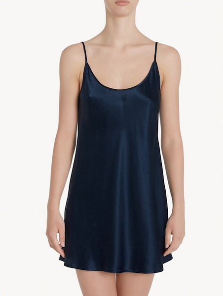 La Perla Navy Blue Silk Nightdress