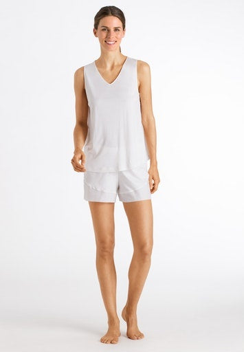 Hanro Alika Shorty Pyjama Set - Off White