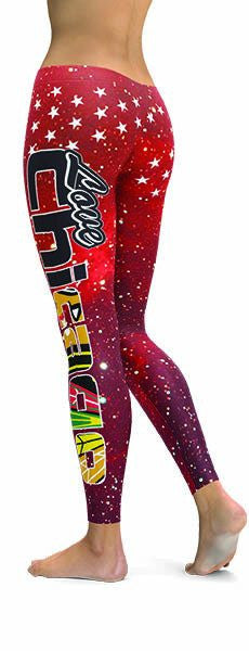 Chicago Hawks Premium Leggings