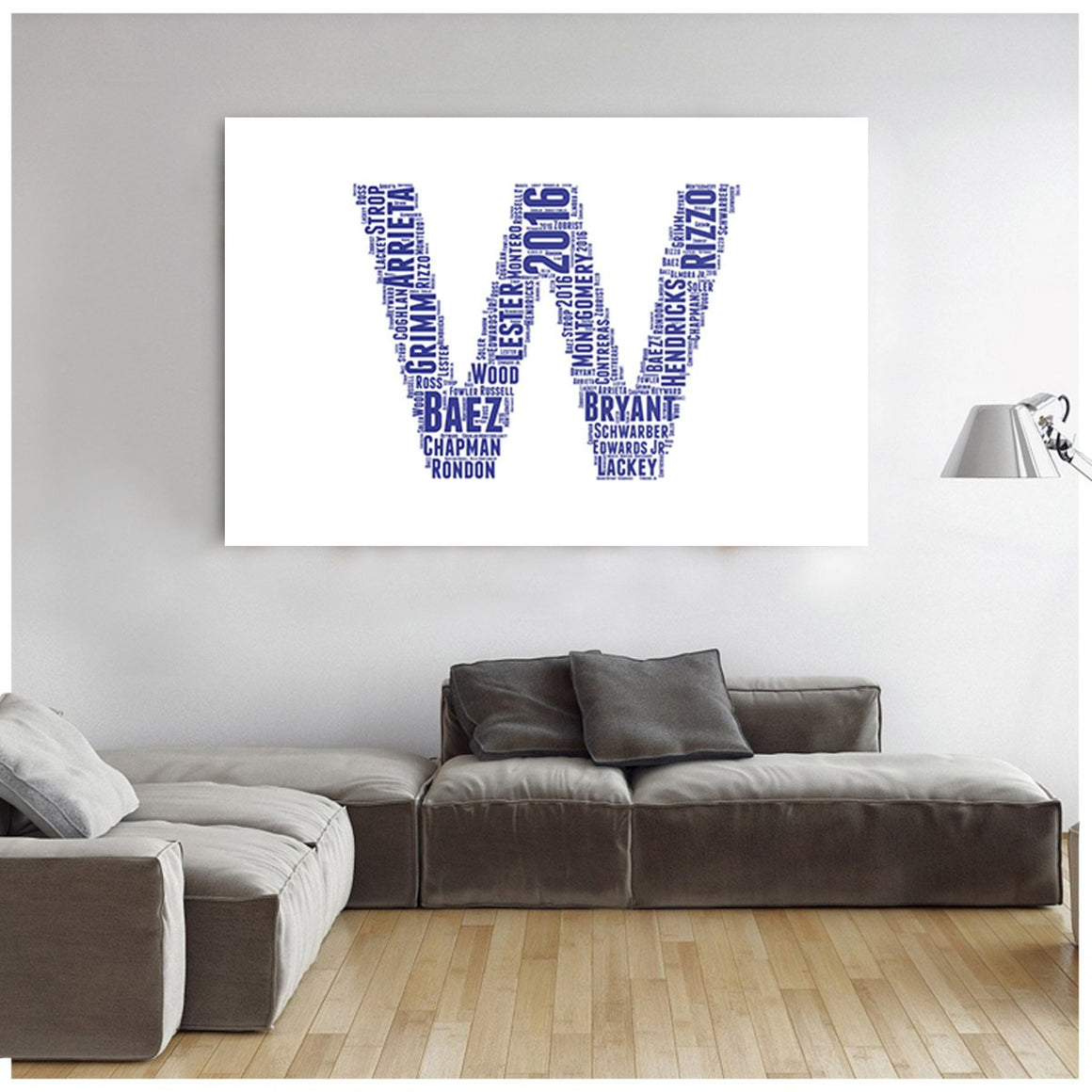 Chicago Win Flag Canvas Prints