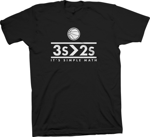 """3's>2's"" Limited Edition T-Shirt (Black)"