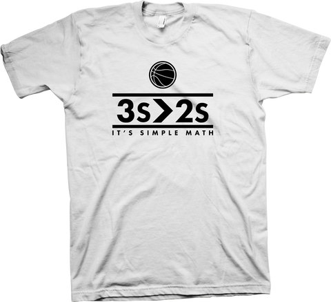 """3's>2's"" Limited Edition T-Shirt (White)"