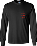 """I Feel Like MJ"" Pablo - Long Sleeve Shirt (Black/Red)"