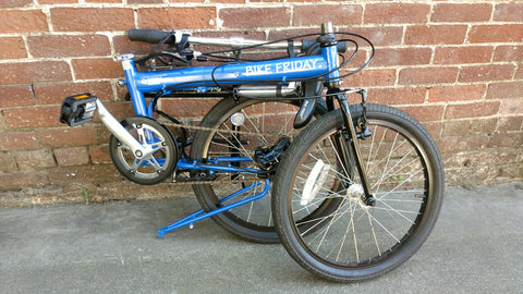 Bike Friday 'Pocket Companion' 24-speed, blue