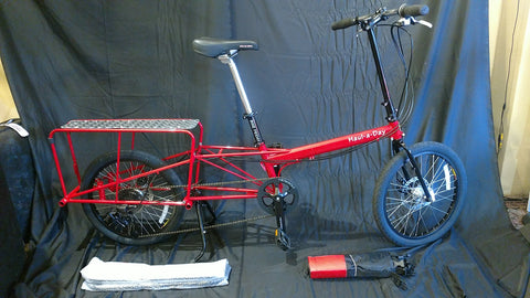 Bike Friday, Haul-a-Day, Cargo Bike, Red, 33017