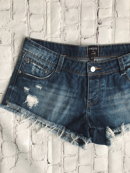 Dark Wash Boyfriend Cutoffs