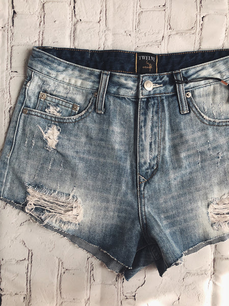 Favorite Light Wash Cutoffs