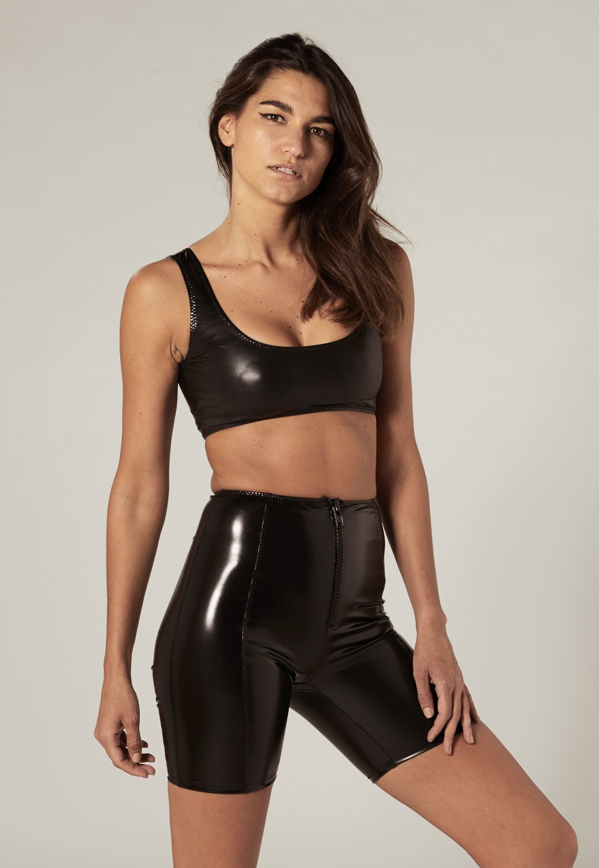 ZANI BLACK PVC TOP
