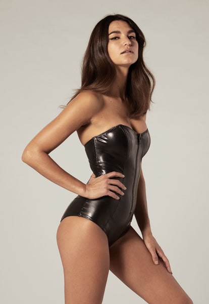 LEIGH BLACK PVC MAILLOT