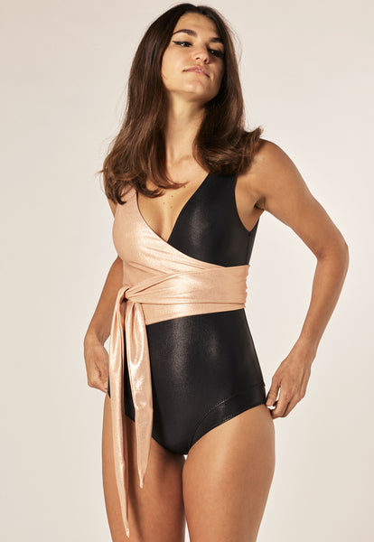 DREE LOUISE ROSE GOLD/BLACK MAILLOT