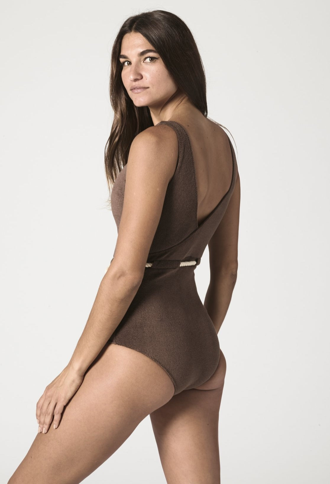 YASMIN CHOCOLATE TERRY MAILLOT