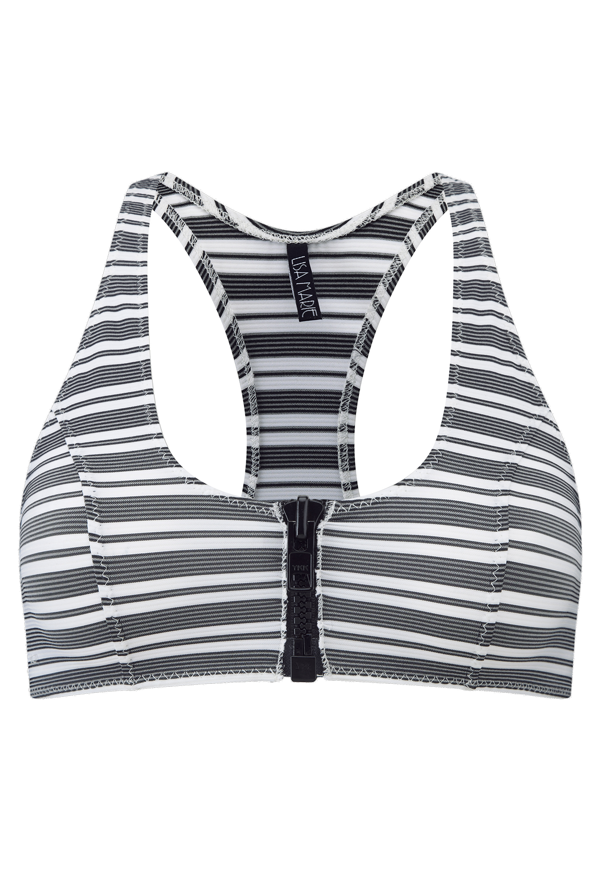 ELISA STRIPED SPORT BRA TOP