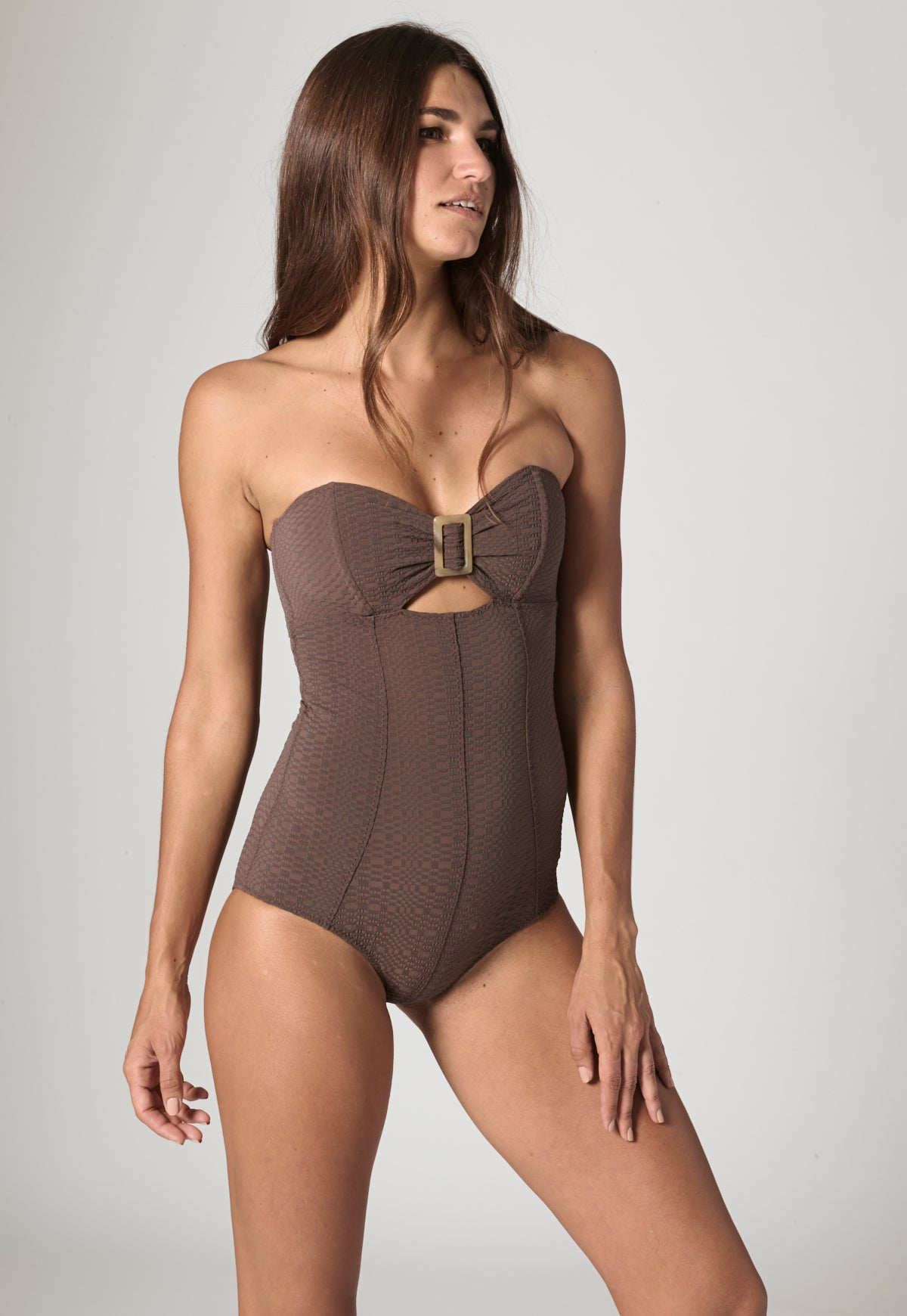 BUCKLE BANDEAU CHOCOLATE MAILLOT