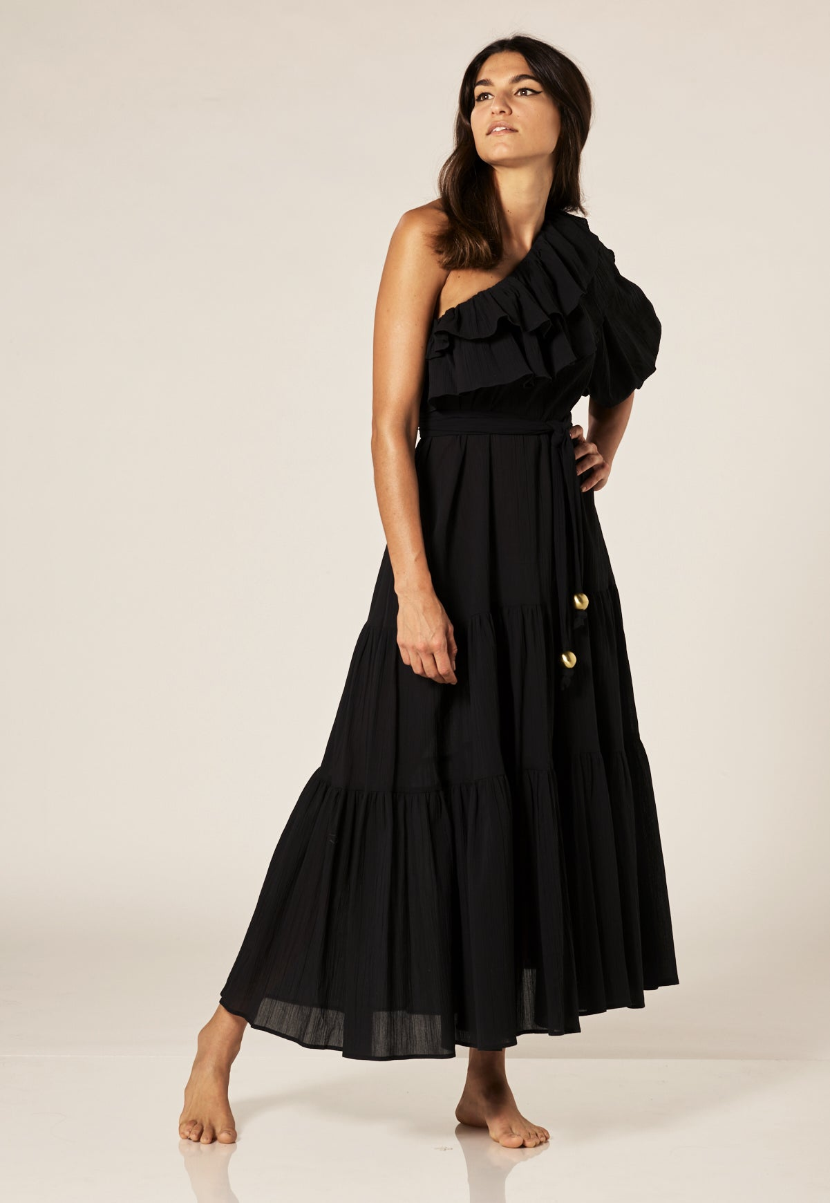 ARDEN BLACK COTTON DRESS