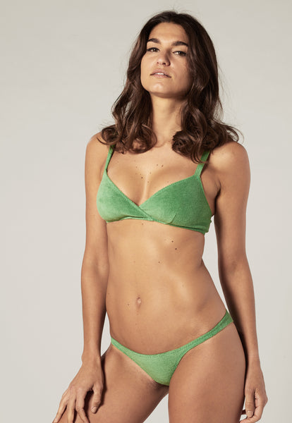 YASMIN GREEN TERRY CLOTH BIKINI