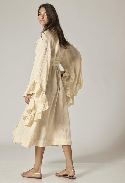 ANITA NATURAL METALLIC GAUZE ROBE