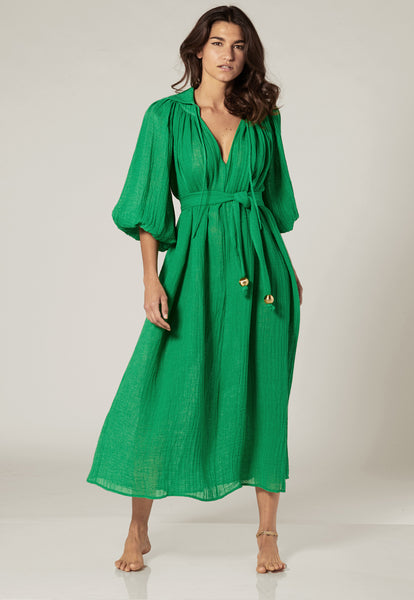 POET GREEN GAUZE DRESS