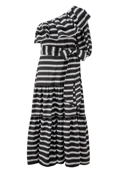 ARDEN BLACK STRIPED DRESS