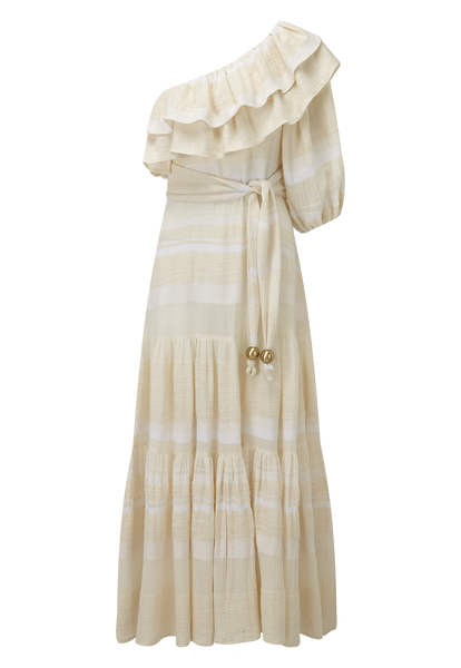 ARDEN CREAM COTTON DRESS
