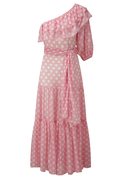 ARDEN PINK POLKA DOT DRESS
