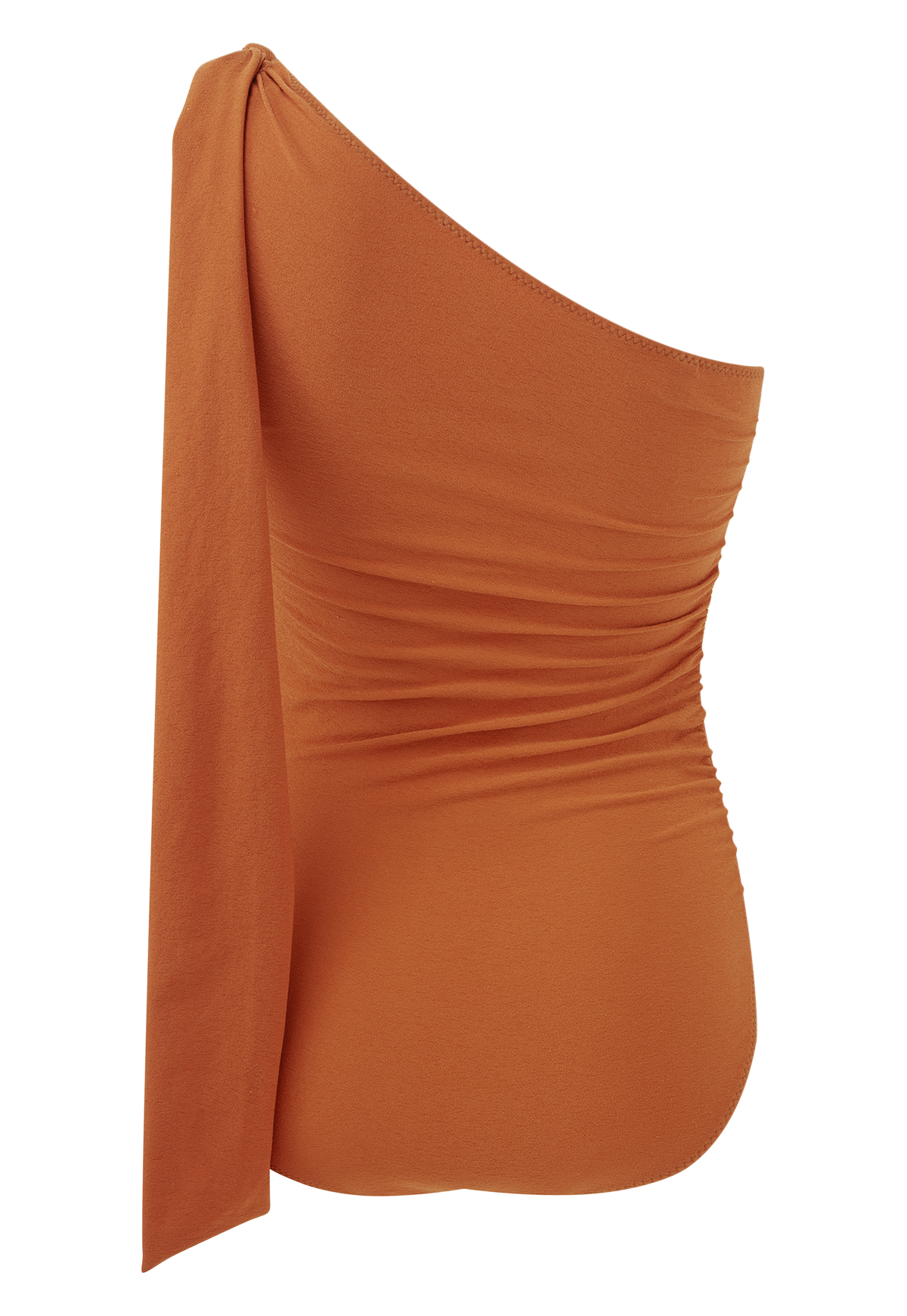 ARDEN TERRACOTTA CREPE TIE MAILLOT