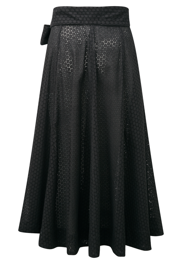 BLACK EYELET BEACH SKIRT