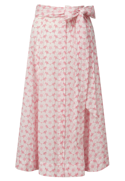 PINK POPPY EYELET BEACH SKIRT