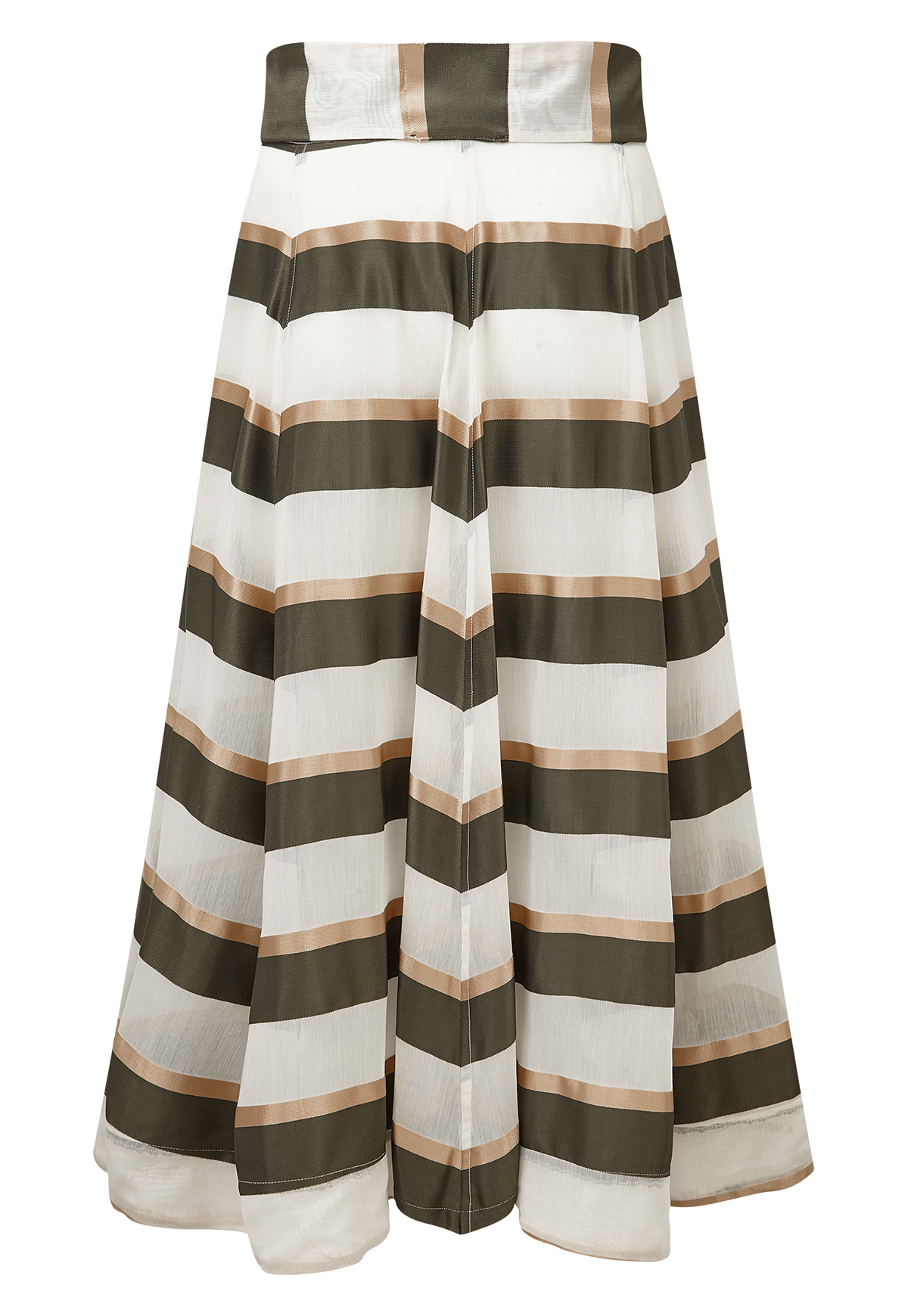 OLIVE AND GOLD STRIPE BEACH SKIRT