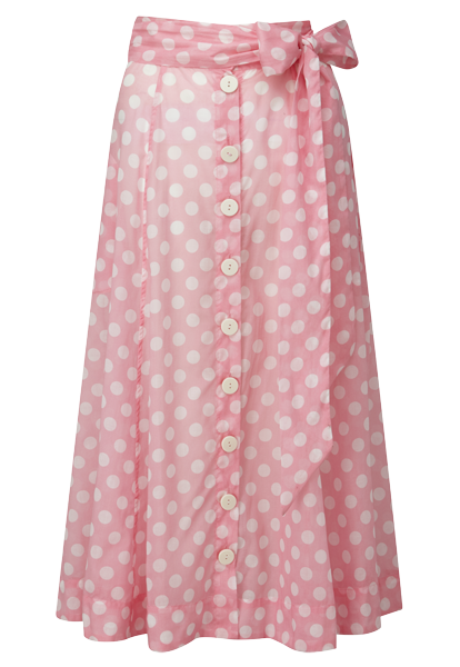 PINK POLKA DOT BEACH SKIRT