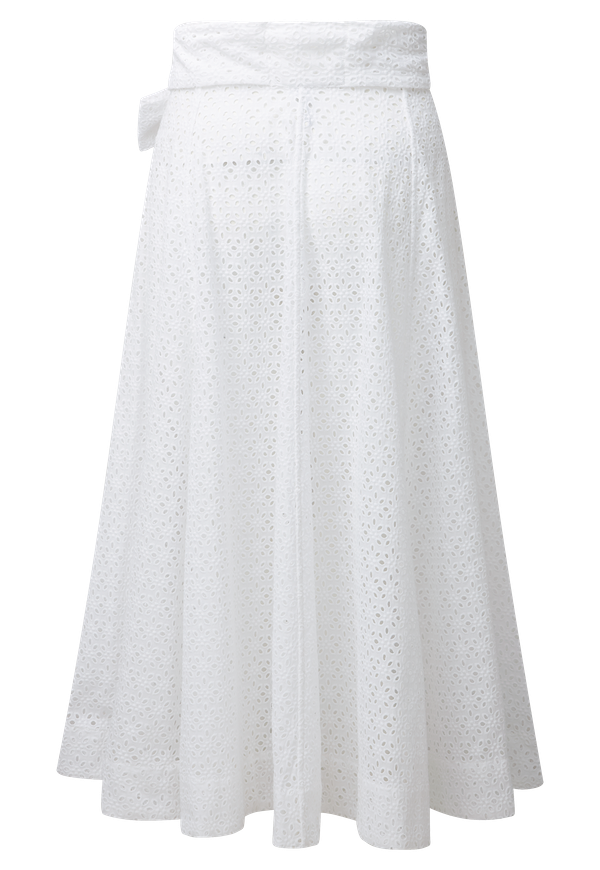WHITE EYELET BEACH SKIRT