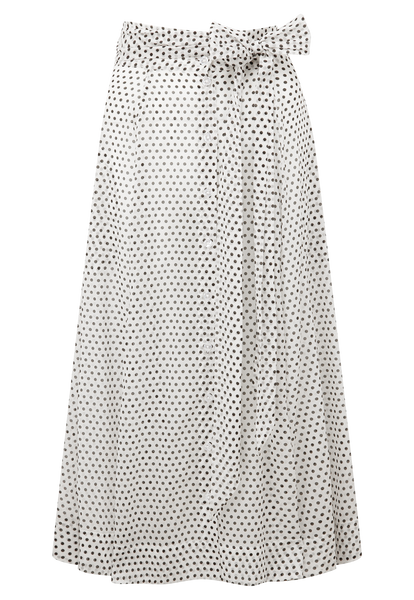 WHITE POLKA DOT BEACH SKIRT