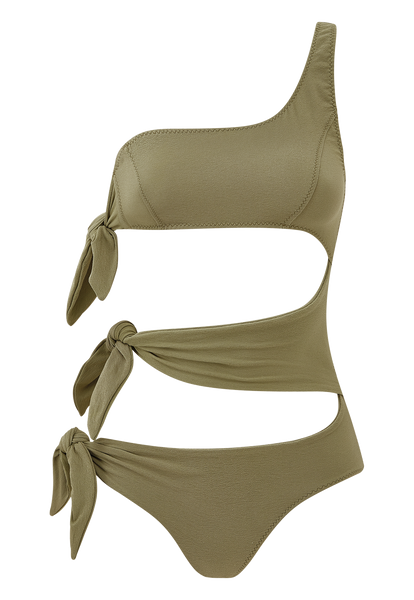 BIANCA OLIVE CREPE MAILLOT