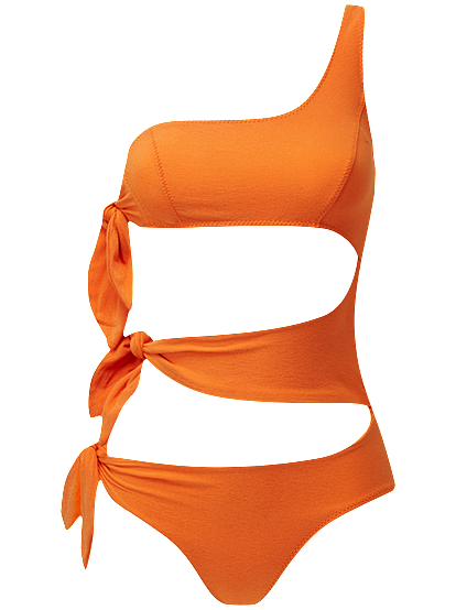 BIANCA ORANGE CREPE MAILLOT