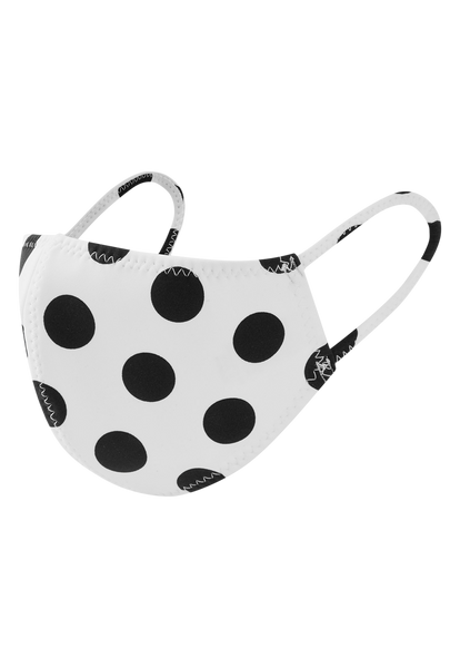 BLACK POLKA DOT BONDED MASK