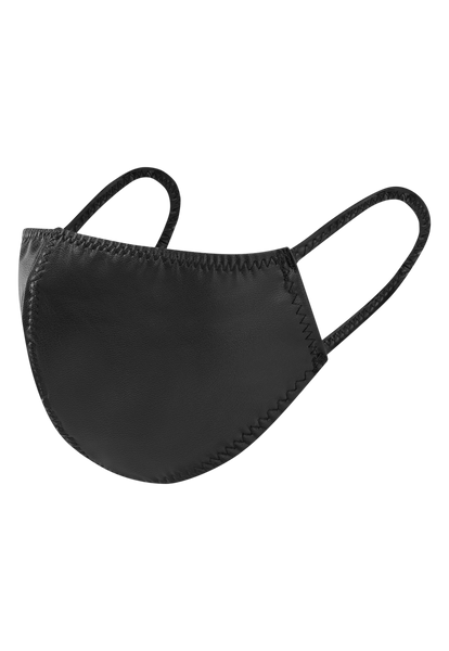 BLACK VEGAN LEATHER MASK