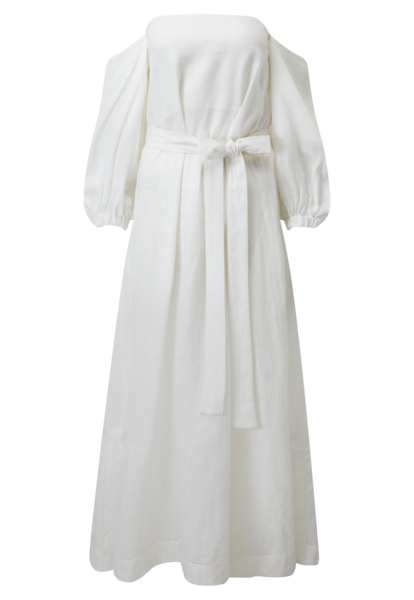 ROSIE WHITE LINEN DRESS