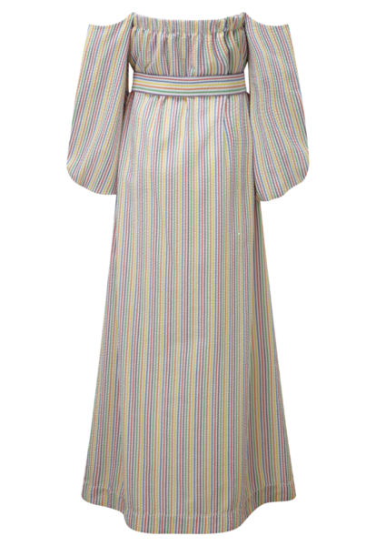 ROSIE MULTI COLOR SEERSUCKER MAXI DRESS