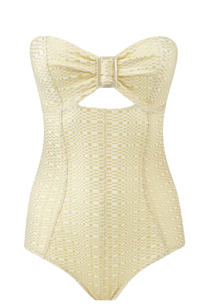 BUCKLE BANDEAU GOLD/CREAM METALLIC MAILLOT