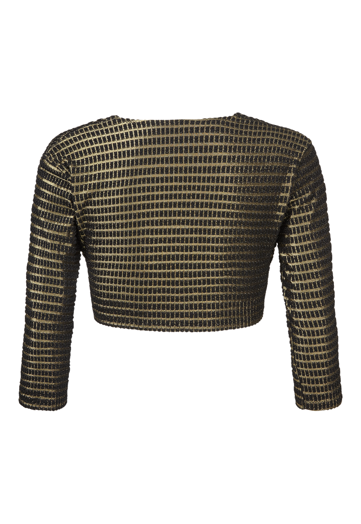 GOLD/BLACK JACQUARD CARDIGAN