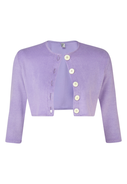 LAVENDER TERRY CLOTH CARDIGAN